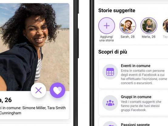 Facebook, più che amici con la nuova app per cuori solitari
