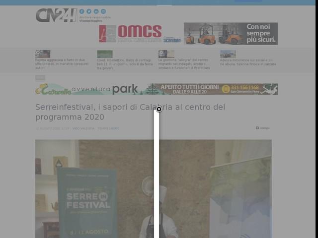 Serreinfestival, i sapori di Calabria al centro del programma 2020