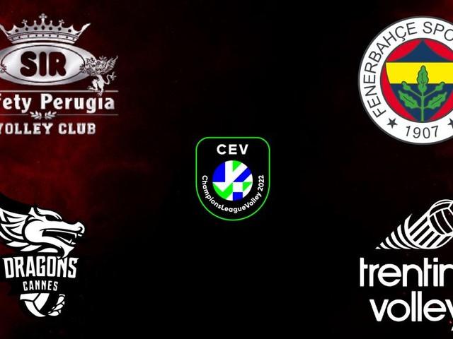 Sorteggi Champions, per la Sir derby con Trento