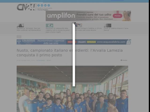 Nuoto, campionato italiano esordienti: l'Arvalia Lamezia conquista il primo posto