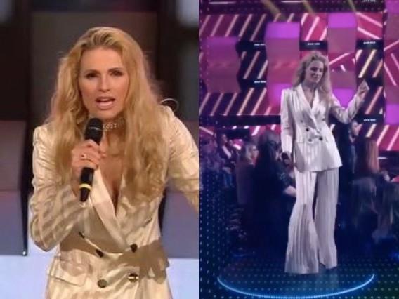 Michelle Hunziker cambia look a All Together Now: per la puntata 5 capelli mossi e pantaloni a zampa