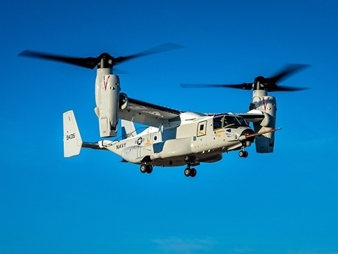 Bell Boeing CMV-22B Osprey successfully completes maiden flight