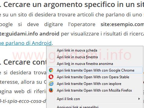 Estensione per aprire link Firefox e Chrome con altri browser