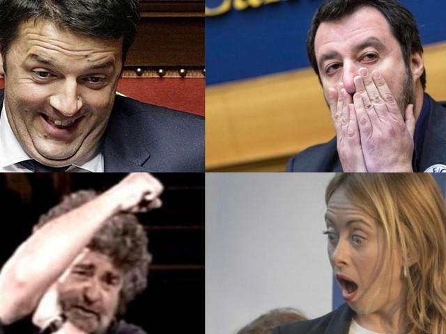 Renzi e Grillo sorridono: svelati i ministri del Governo. Salvini e Meloni in attesa del loro fallimento