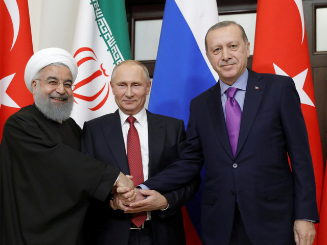 "L'asse Putin-Erdogan-Rohani si rafforza contro le ""ingerenze"" di Trump"