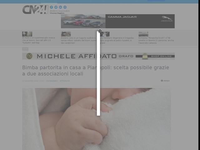 Bimba partorita in casa a Pianopoli: scelta possibile grazie a due associazioni locali