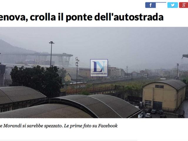 LIVE. Genova, crolla ponte in autostrada: 35 vittime, 10 dispersi