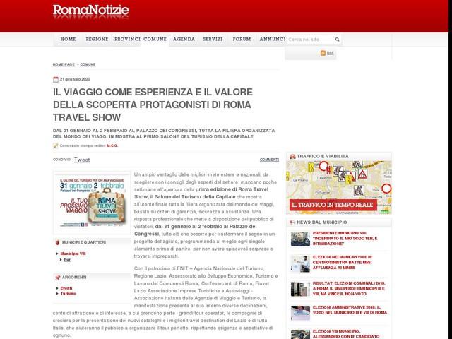 Il viaggio come esperienza e il valore della scoperta protagonisti di Roma Travel Show
