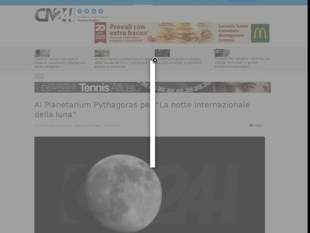 """Al Planetarium Pythagoras per """"La notte internazionale della luna"""""""