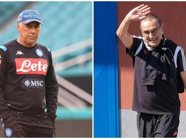 Napoli Juve. Il San Paolo applauda l'ex Sarri, ma Ancelotti ha fatto meglio