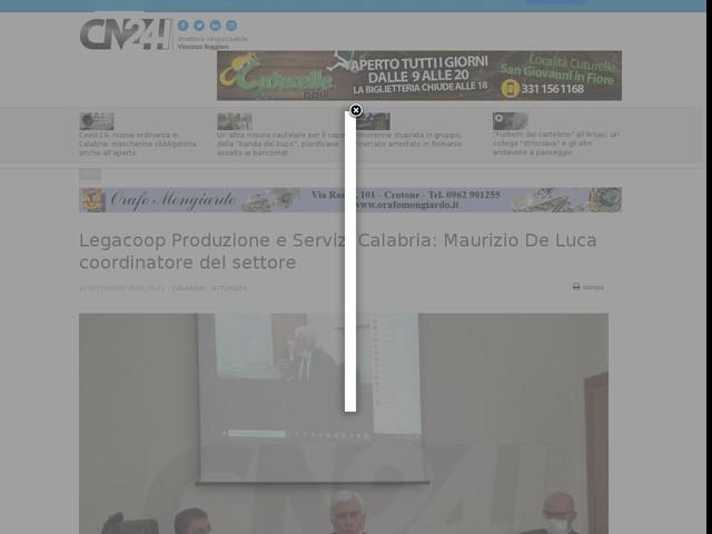 Legacoop Produzione e Servizi Calabria: Maurizio De Luca coordinatore del settore