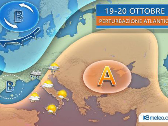 Le previsioni meteo del fine settimana: che tempo farà in Italia il 19 e 20 ottobre