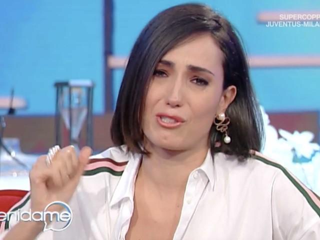 Caterina Balivo piange in diretta TV, poi si scusa su Instagram