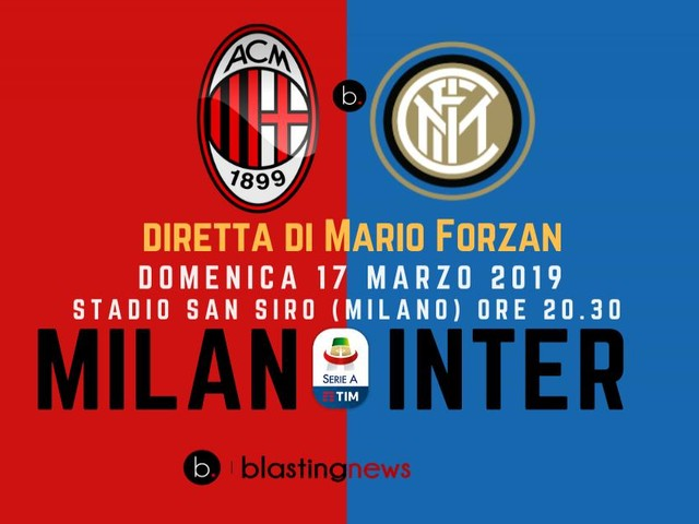Diretta Serie A: Milan - Inter un derby da record di incassi, Piatek sfida Lautaro