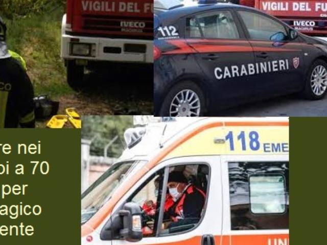 Fermo: A Montegiorgio incidente mortale in campagna per un settantenne del luogo.