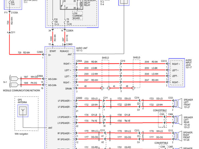 Ford Mustang Stereo Wiring Diagram
