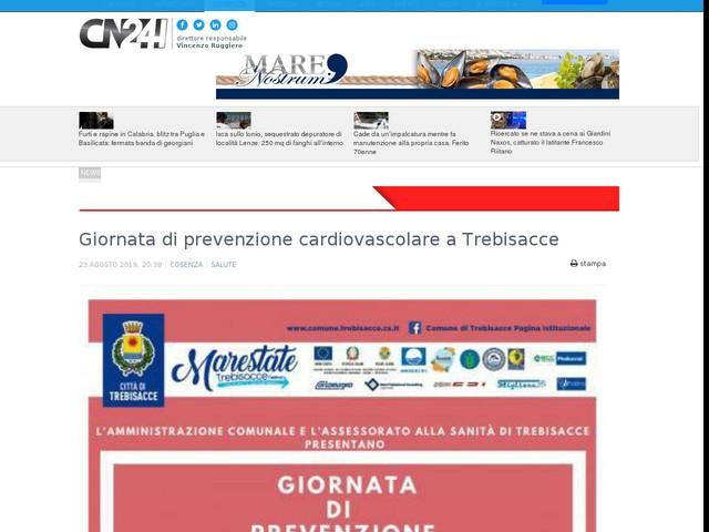 Giornata di prevenzione cardiovascolare a Trebisacce