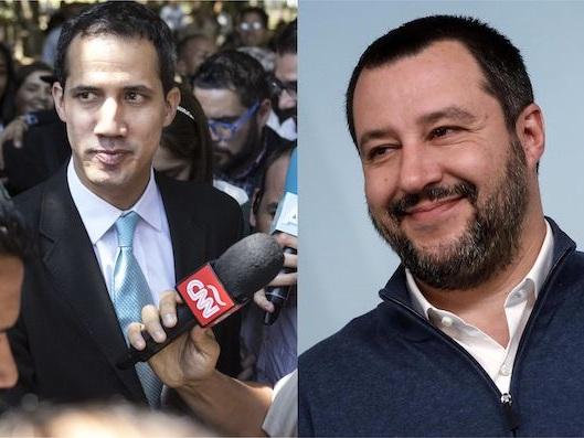 Matteo Salvini ha telefonato a Juan Guaidò per manifestargli il suo sostegno