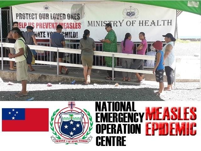 Le Samoa hanno dichiarato lo stato di emergenza per un'epidemia di morbillo