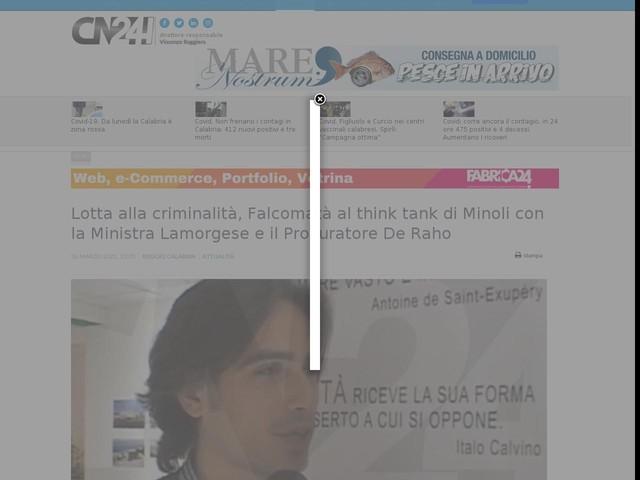 Lotta alla criminalità, Falcomatà al think tank di Minoli con la Ministra Lamorgese e il Procuratore De Raho