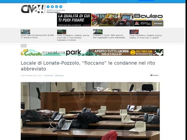 """Locale di Lonate-Pozzolo, """"fioccano"""" le condanne nel rito abbreviato"""