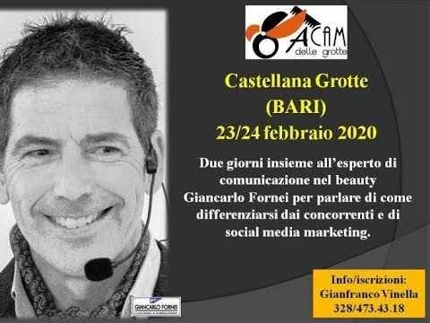 Formazione Parrucchieri Bari: l'esperto di comunicazione nel beauty Giancarlo Fornei torna all'Acam delle Grotte (Bari) il 23 e 24 febbraio ...