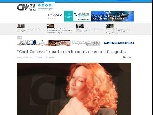 """""""Corti Cosenza"""" riparte con incontri, cinema e fotografia"""