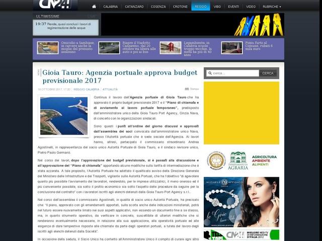 Gioia Tauro: Agenzia portuale approva budget previsionale 2017