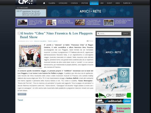 "Al teatro ""Cilea"" Nino Frassica & Los Plaggers Band Show"