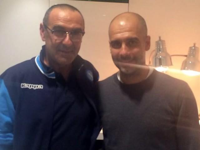 Terzo tempo Sarri-Guardiola: incontro negli spogliatoi dell'Etihad