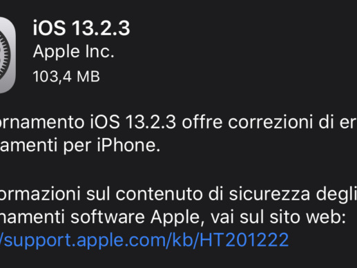Apple rilascia iOS 13.2.3