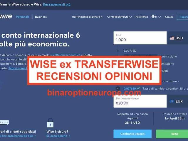[Ex TransferWise] Wise recensioni opinioni e commissioni [2021] alternative [bonus]