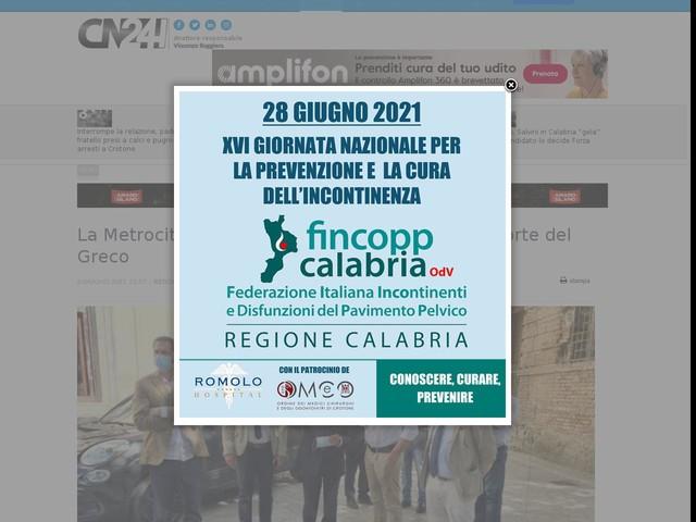 La Metrocity tra i borghi di San Lorenzo e Roccaforte del Greco