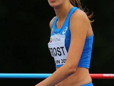 Alessia Trost in gara nell'alto a Monaco venerdi nella Diamond League