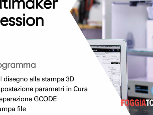 """A Manfredonia """"Ultimaker session"""", un corso su come imparare a stampare in 3d"""