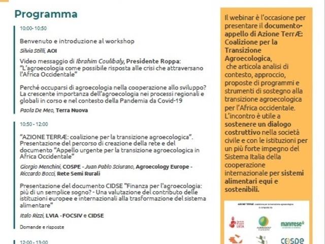 Quale posto per la transizione agroecologica nella cooperazione internazionale?