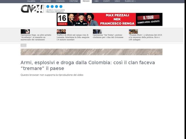 """Armi, esplosivi e droga dalla Colombia: così il clan faceva """"tremare"""" il paese"""