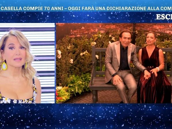 Domenica Live, Giucas Casella chiede alla compagna Valeria Perilli di sposarlo