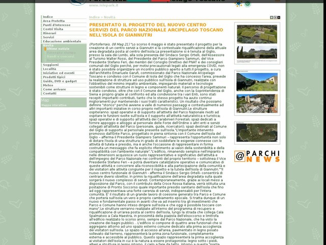 PN Arcipelago Toscano - PRESENTATO IL PROGETTO DEL NUOVO CENTRO SERVIZI DEL PARCO NAZIONALE ARCIPELAGO TOSCANO NELL'ISOLA DI GIANNUTRI
