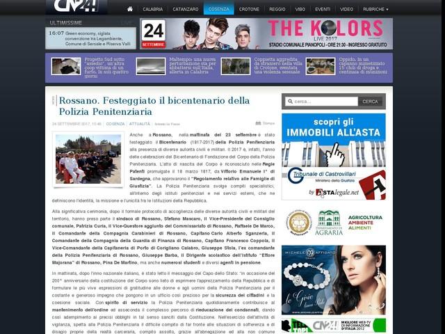 Rossano. Festeggiato il bicentenario della Polizia Penitenziaria