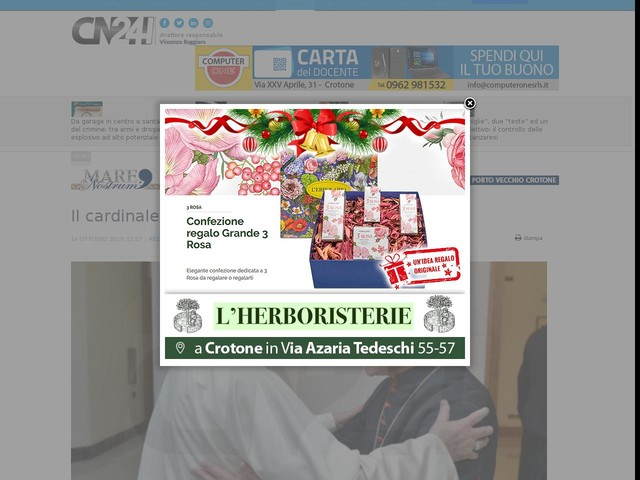 Il cardinale Simoni visiterà a Reggio Calabria