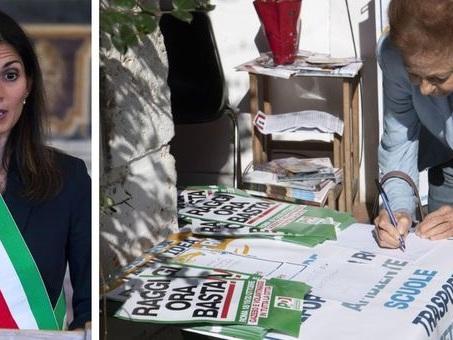 Virginia Raggi, raccolta firme di lega e Pd contro la sindaca. Lei: «Rispondo con i fatti»