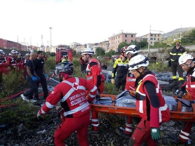 Anche la Croce Rossa di Sanremo ed Imperia a Genova per aiutare i soccorritori in Val Polcevera