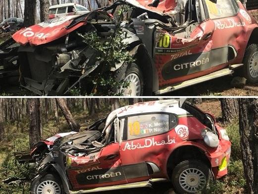 Brivido al Rally Portogallo, Cede roll-bar. Pilota illeso (VIDEO)
