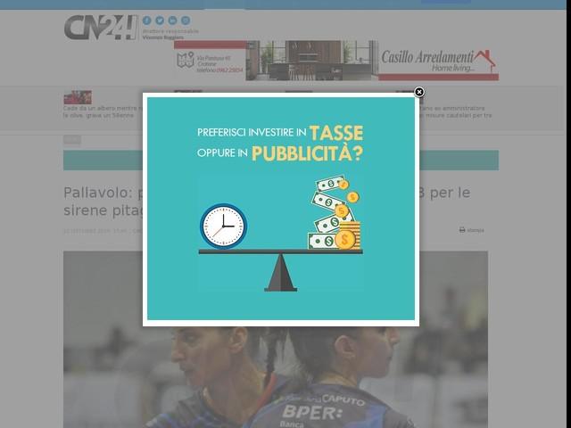 Pallavolo: primo esordio nel campionato di Serie B per le sirene pitagoriche