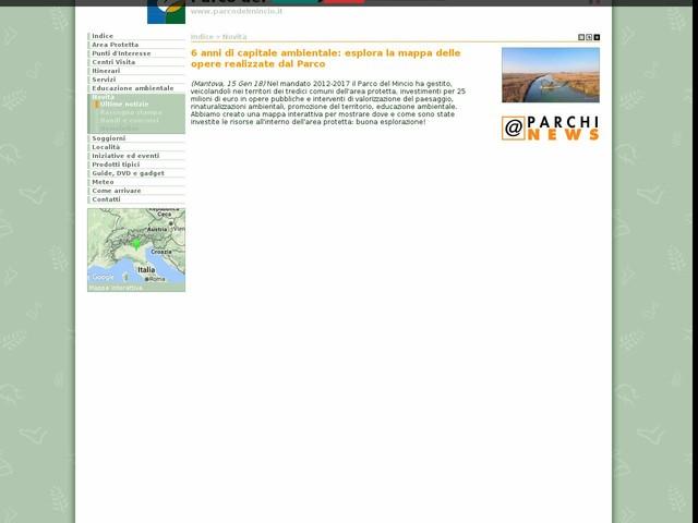 PR Mincio - 6 anni di capitale ambientale: esplora la mappa delle opere realizzate dal Parco