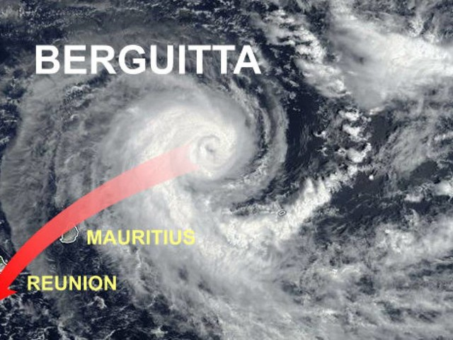 Ciclone tropicale Berguitta: imminente landfall sulle Mauritius