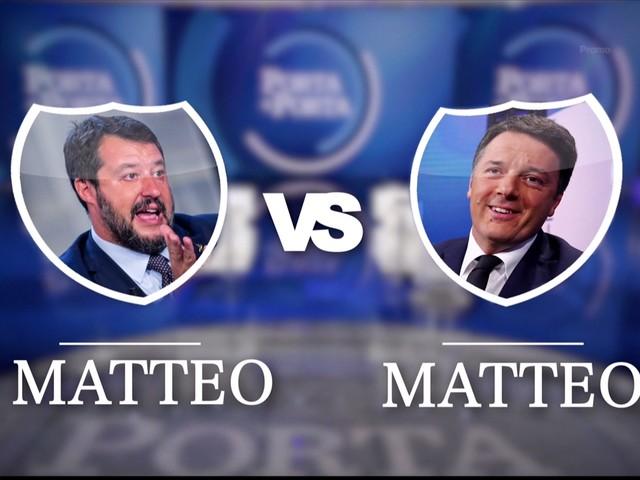 Matteo vs Matteo, il confronto Renzi - Salvini a Porta a Porta senza diretta