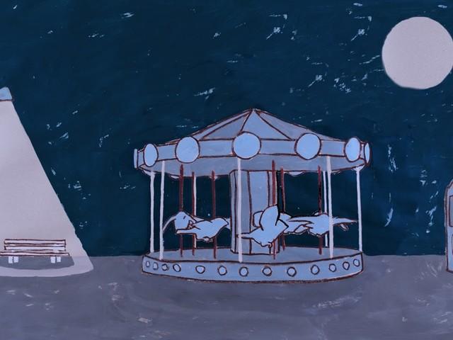 Il nuovo corto animato di Valerio Berruti ad Alba. Nato da una giostra a carosello di 7 metri