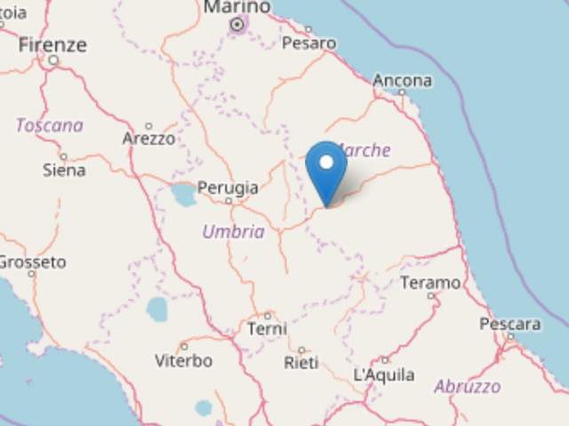 Terremoto di magnitudo 3,1 con epicentro a Muccia (Mc) Alle 5,01. In quella zona si sono susseguite alcune lievi scosse da ieri pomeriggio